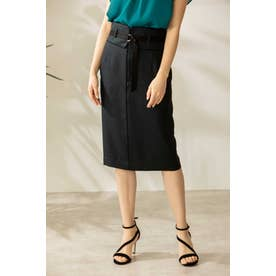 ◆配色パイピングスカート ネイビー