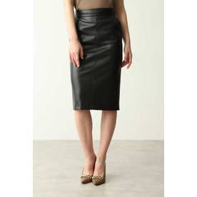 フェイクレザータイトスカート ブラック