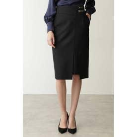 ◆ダブルビットラップ風スカート ブラック