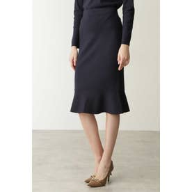 ◆ペプラムニットスカート ネイビー