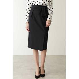 ◆リボンベルト付きバックマーメイドスカート ネイビー