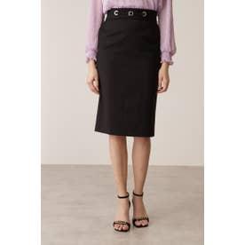 ◆ハトメベルトデザインスカート ブラック