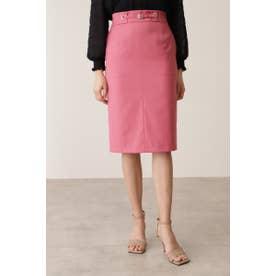 ◆ハトメベルトデザインスカート ローズレッド4