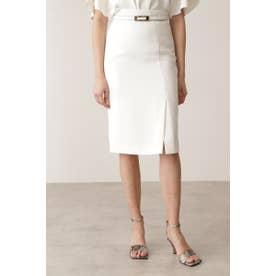2WAYベルト付きタイトスカート ホワイト