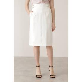 ダブルリングタイトスカート ホワイト