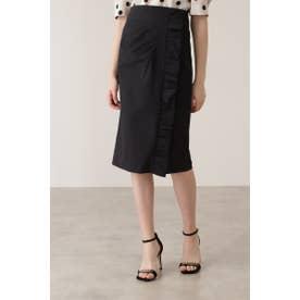 サイドギャザーデザインスカート ブラック