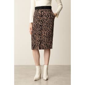 ◆レオパードプリントスカート ライトブラウン7