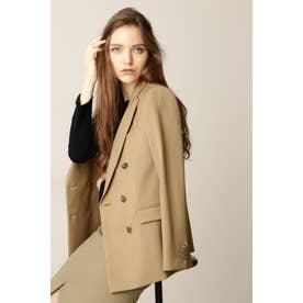 ◆ピークドカラーダブルブレストジャケット キャメル5