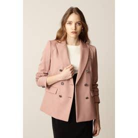 ◆ピークドカラーダブルブレストジャケット ピンク
