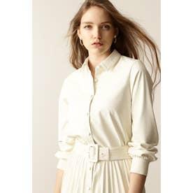 ◆フェイクレザーシャツ エクリュ1