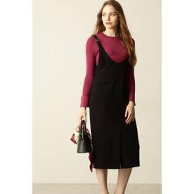 ◆Uネックジャンパースカート ブラック