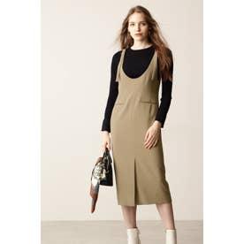 ◆Uネックジャンパースカート キャメル5