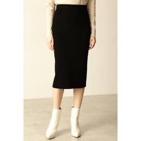 ◆総針ニットスカート ブラック