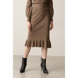 ◆リブニットセットアップスカート モカ6