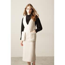 ◆ファーポケットジャンパースカート ベージュ
