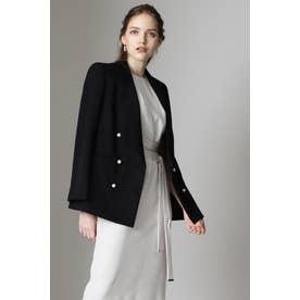 ◆パールボタンダブルブレストジャケット ブラック