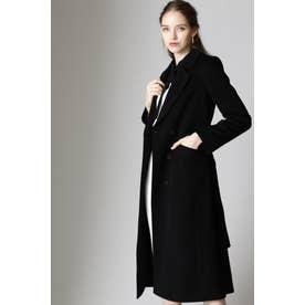 ◆カシミヤベルテッドコート ブラック