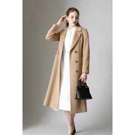 ◆カシミヤベルテッドコート キャメル5