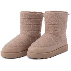 パイピング ホット フューチャー QUILTED SHERPA PANELLED MID BOOT WITH BACK TAB (SAND)