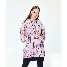 パイピング ホット フューチャー L/S OVERSIZE HOODIE DRESS (SHIBORI SPIRAL)