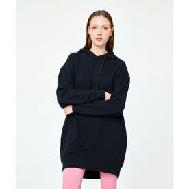 パイピング ホット フューチャー L/S OVERSIZE HOODIE DRESS (BLACK)