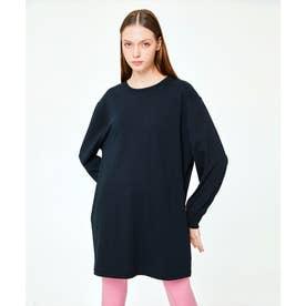パイピング ホット フューチャー L/S OVERSIZE T-SHIRT DRESS (BLACK)