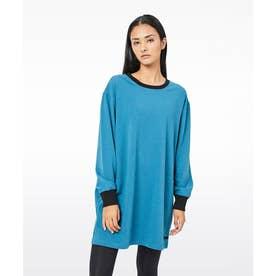 パイピング ホット フューチャー L/S OVERSIZE T-SHIRT DRESS (TEAL)