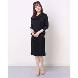 【ELIN】サテンドレス (ブラック)