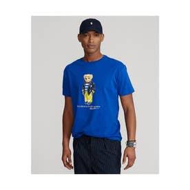 カスタム スリム フィット ベア Tシャツ (BLUE)