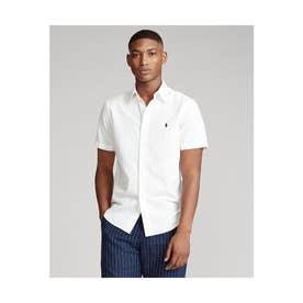 カスタムフィット ボタンダウン ショートスリーブシャツ (WHITE)