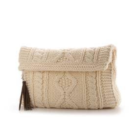 Knit Clutch Bag (Ivory)