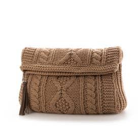 Knit Clutch Bag (Beige)