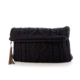 Knit Clutch Bag (Navy)
