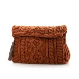 Knit Clutch Bag (Terra Cotta)