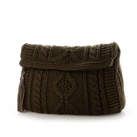 Knit Clutch Bag (Khaki)
