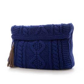 Knit Clutch Bag (Blue)
