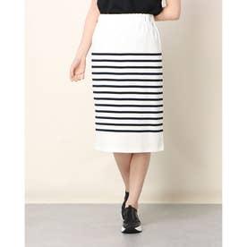 USA Cotton Border Skirt (White/Navy)