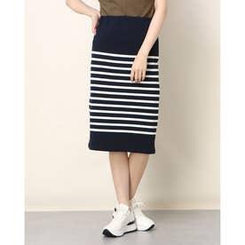USA Cotton Border Skirt (Navy/White)