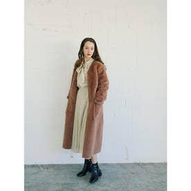 caramel fur coat (BEIGE)