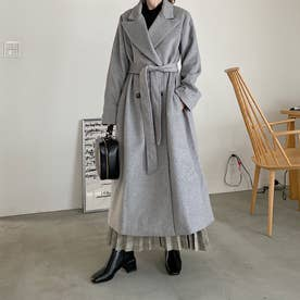 3color chester long coat (GRAY)