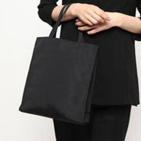 喪服・礼服 グログランブラックフォーマル用手提げバッグ(トートバッグ) (ブラック)