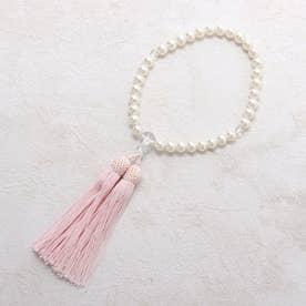 喪服・礼服用 新水晶念珠(数珠) (ホワイト)