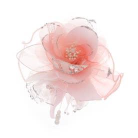 【入学式、卒業式、入園、卒園に】バラ2輪パールあしらいコサージュ (ピンク)