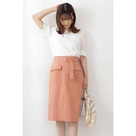 ◆ベルト付カーゴスカート オレンジ