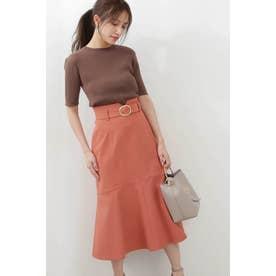 ◆ツイルマーメイドフレアスカート フラミンゴピンク5