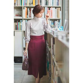セミマーメイドカラータイトスカート ボルドー