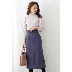 セミマーメイドカラータイトスカート ダスティブルー1
