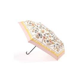 スカーフプリント折りたたみ傘 ピンク