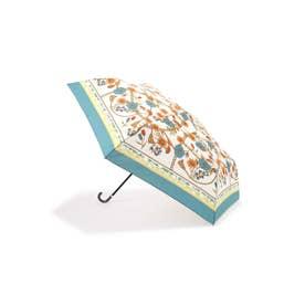 スカーフプリント折りたたみ傘 グリーン