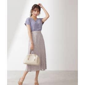 ジャガードマーメイドスカート ブルー